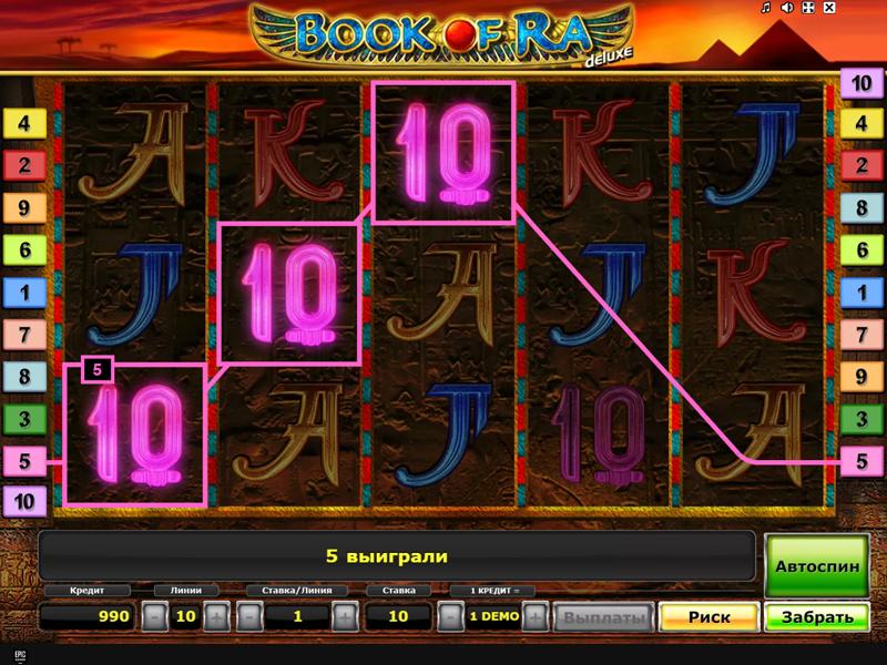 Игровой автомат Book of Ra Deluxe бесплатно без регистрации
