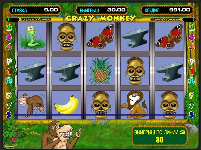 Игровой автомат Crazy Monkey бесплатно без регистрации