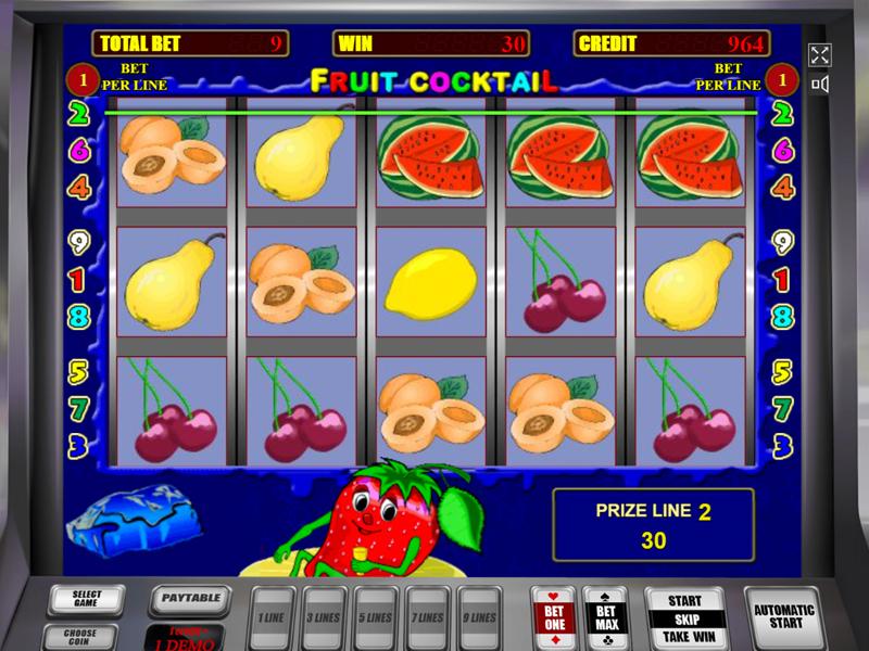Игровой автомат Fruit Cocktail бесплатно без регистрации